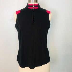 JAMIE SADOCK | Sleeveless Golf Top Athletic Black